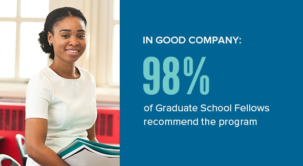 In good company - 98% of Graduate School Fellows recommend the program