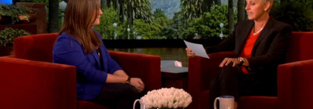 Rachel with Ellen DeGeneres